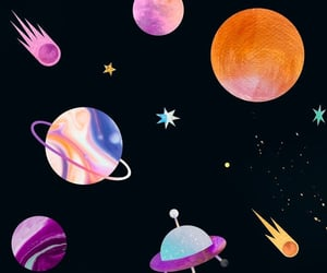 planets, space, and wallpaper image