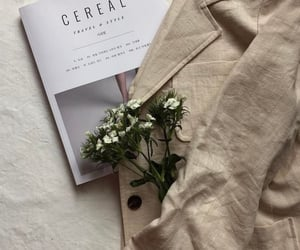 aesthetic, flowers, and beige image