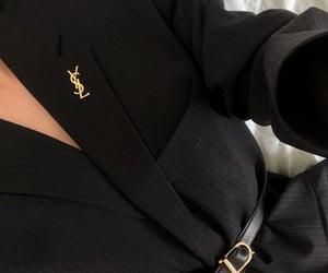 fashion, YSL, and black image