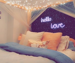 bed, decor, and girly image