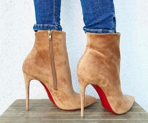 christian louboutin, heels, and red bottoms image