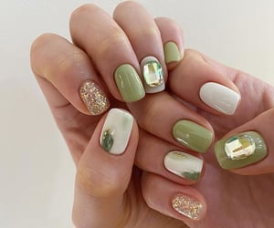 glitter, green, and olive image