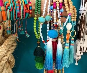bohemian jewelry, boho hippie jewelry, and arm candy set image