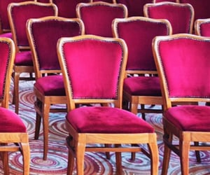 chairs, pink, and seating image