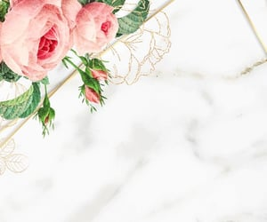 background, floral wallpaper, and marble image