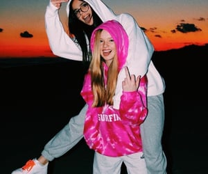 best friends, gray, and pink image