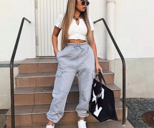 fashion, sneakers, and woman girl image