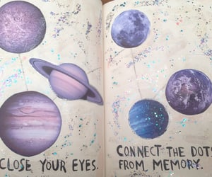 planet, art, and purple image