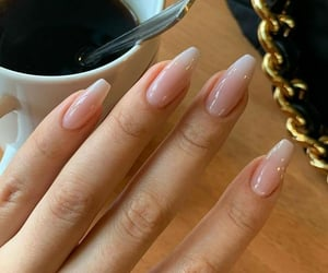 nails, coffee, and manicure image