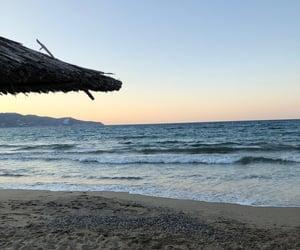 beach, crete, and ete image