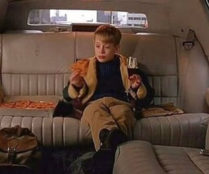 home alone, pizza, and movie image