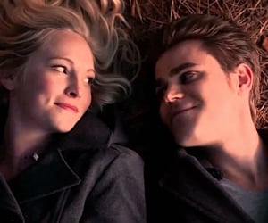 couple, the vampire diaries, and stefan salvatore image