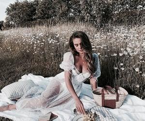 girl, picnic, and white image