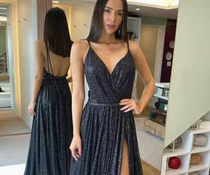 party dress, sparkly dress, and Prom image