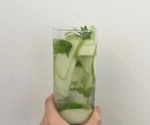 green, drink, and theme image