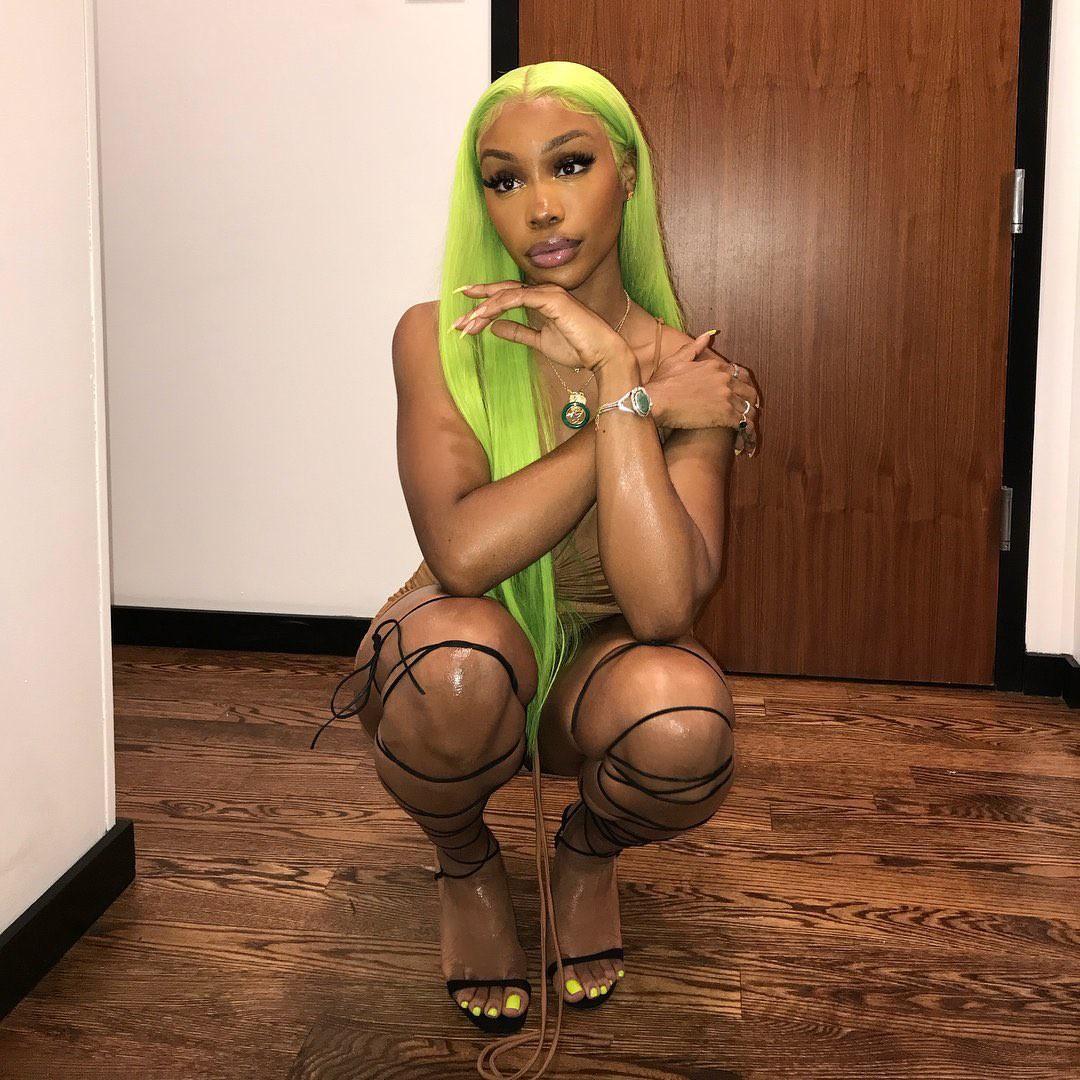 sza, green, and hair image
