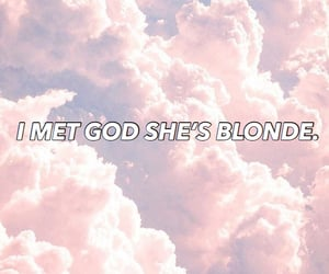 blonde, love quote, and pink image