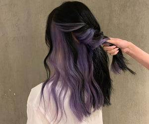 aesthetic, color hair, and purple hair image