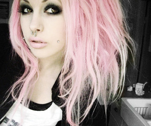 alternative, pink hair, and beauty image