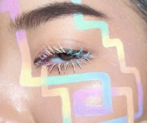 pastel, makeup, and rainbow image