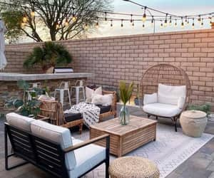 backyard, chilling, and outdoor living image