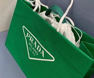 green, luxury, and Prada image