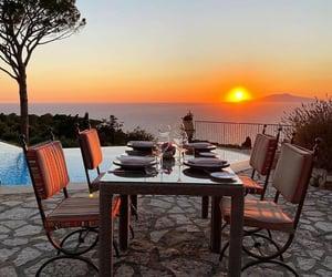 capri, italy, and sunset image