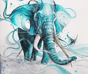 art, artwork, and watercolor painting image