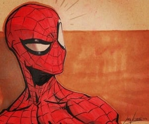 boy, Marvel, and red image