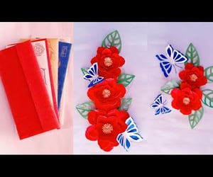 home decoration, paper craft, and peonies image