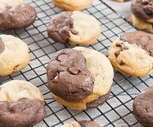 chocolate chip cookies, delicious, and food image