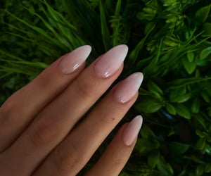 almond, nails, and ombre image
