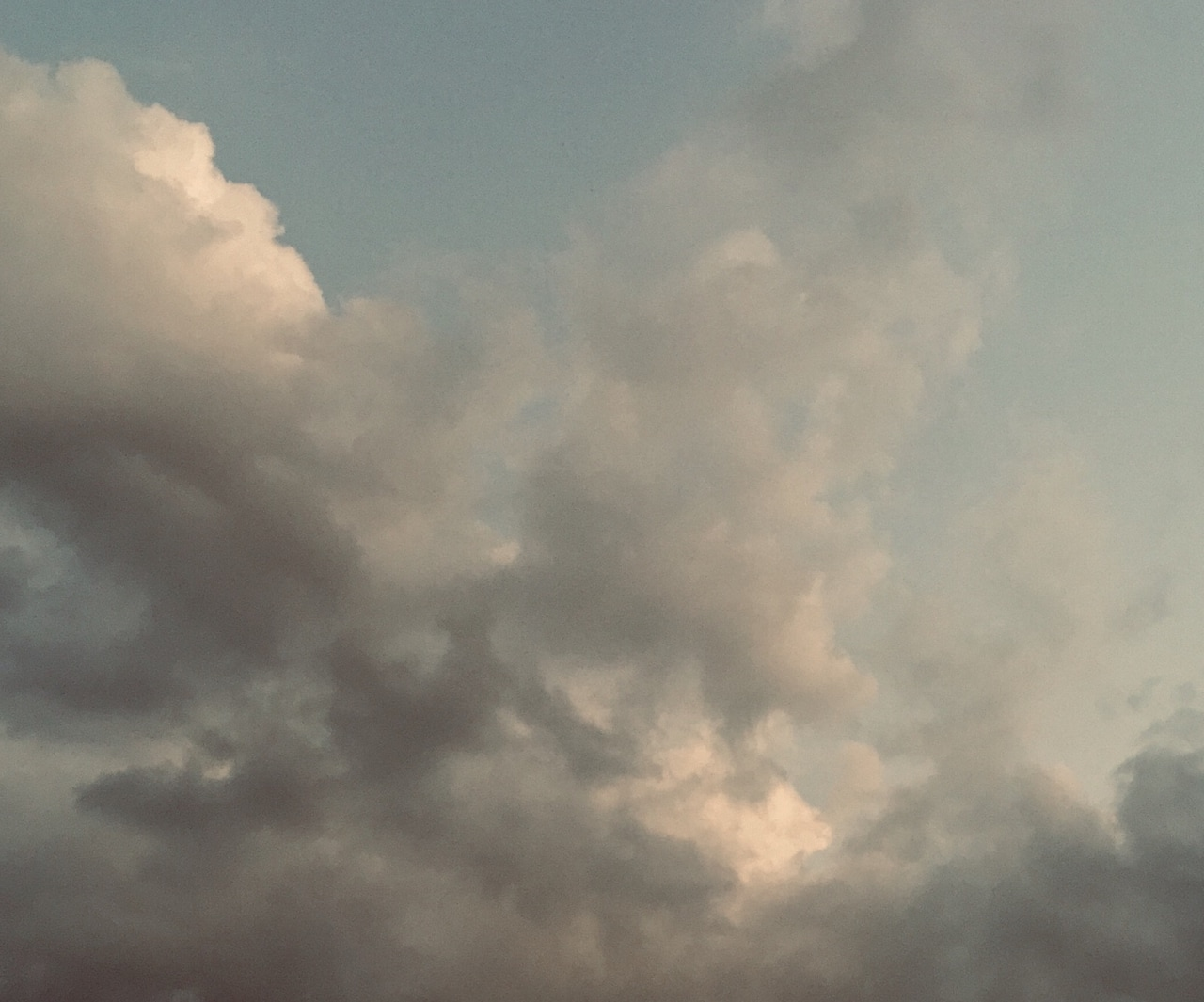 clouds, sky, and vintage image