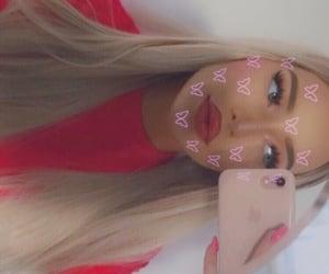 blonde, longhair, and pinklips image