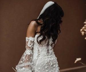 bridal, bride, and girls image