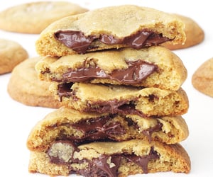 chocolate chip cookies, food, and sweet image