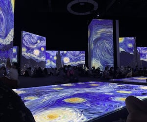 art, starry night, and 🌌 image