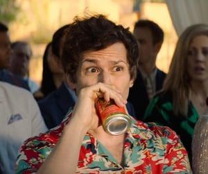 andy samberg, beer, and hot guy image