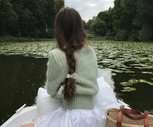 girl, nature, and green image
