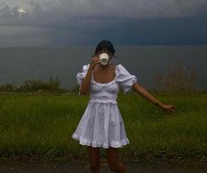 dress, girl, and ocean image