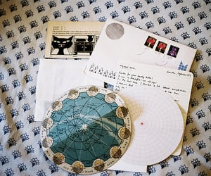 art, constellations, and envelopes image