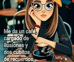 cafe, frases español, and recuerdos image
