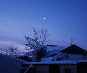 hiver, landscape, and moon image