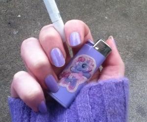 purple, cigarette, and grunge image