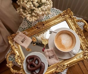 coffee, chocolate, and gold image