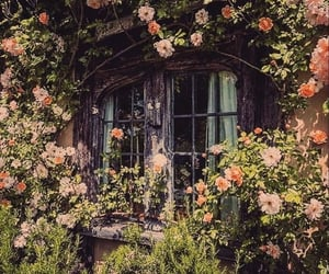 cottage, dream home, and flowers image
