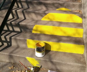 paint, stairs, and yellow image