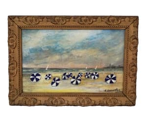 etsy, french art, and sea painting image