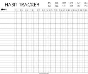 habit tracker, 30 day challenge, and habit tracker template image