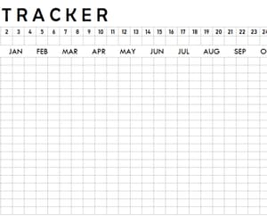 30 day challenge, habit tracker, and yearly habit tracker image